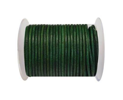 Round Leather Cord 4mm-Vintage Fern green