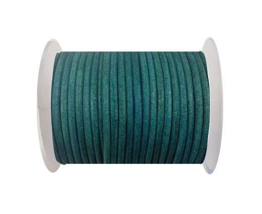Round leather cord-3mm-vintage turquoise
