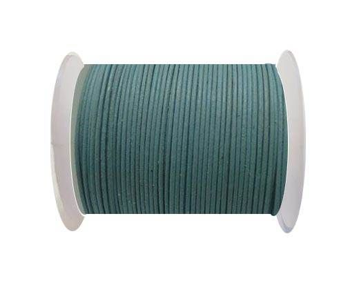 Round Leather Cord -1mm - Light Sky Blue