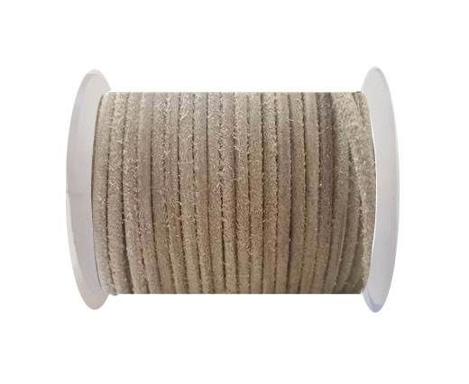 Round Leather Cord 4mm- SE Hairy Natural