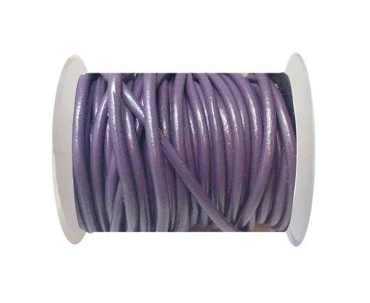 Round Leather Cord 4mm-Purple