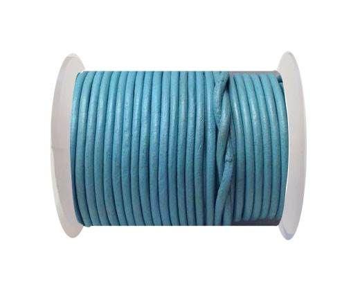Round Leather Cord 4mm-SE.Light Blue