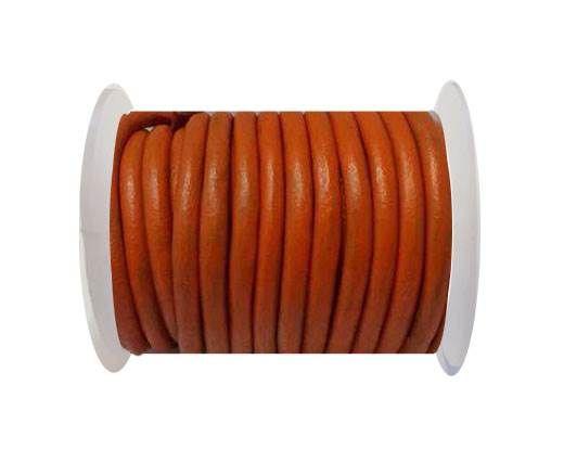 Round Leather Cord 4mm-SE.Orange
