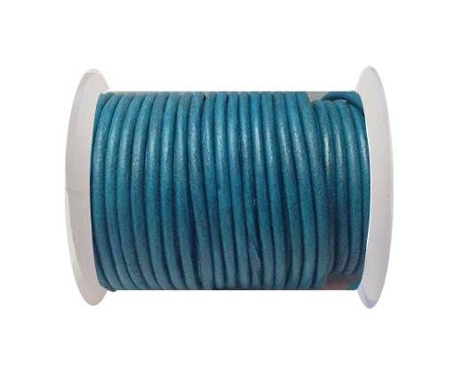 Round Leather Cord 4mm-SE.Turquoise