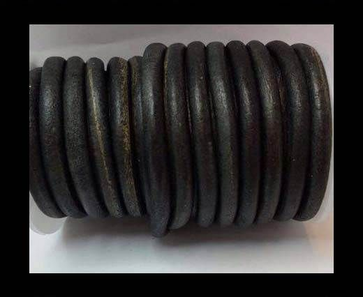 Round Leather Cord -5mm - SE. Vintage Black