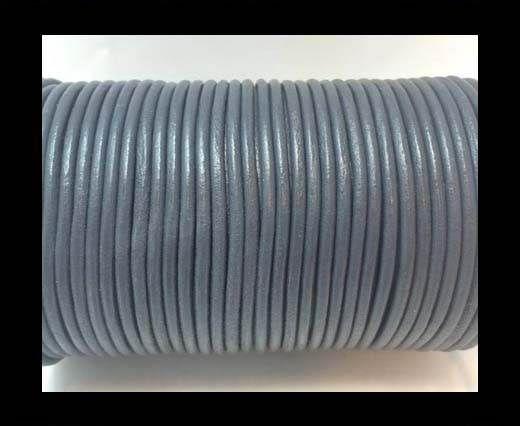 Round Leather cords  2,5mm -Dark Grey
