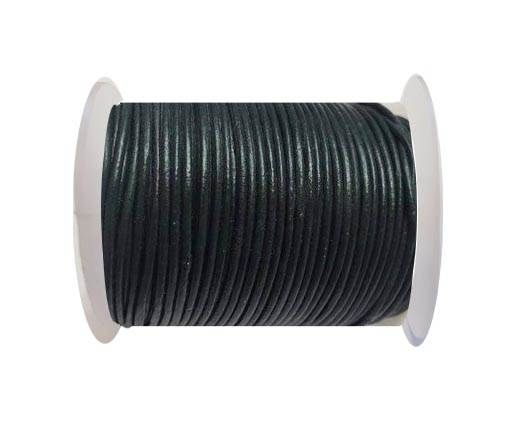 Round Leather Cord SE/R/23-Sea blue - 3mm