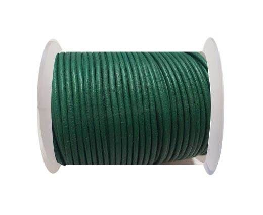 Round Leather Cord SE/R/Green - 3mm