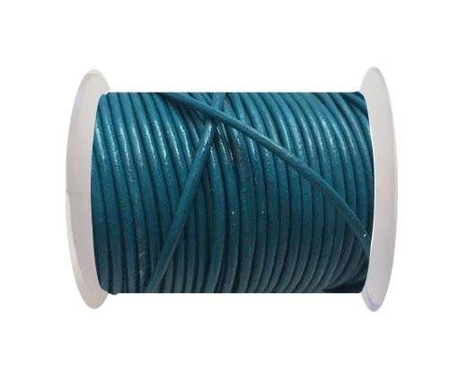 Round Leather Cord SE/R/Turquoise - 3mm