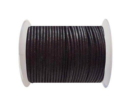 Round Leather Cord SE/R/26-Violet Plum-3mm