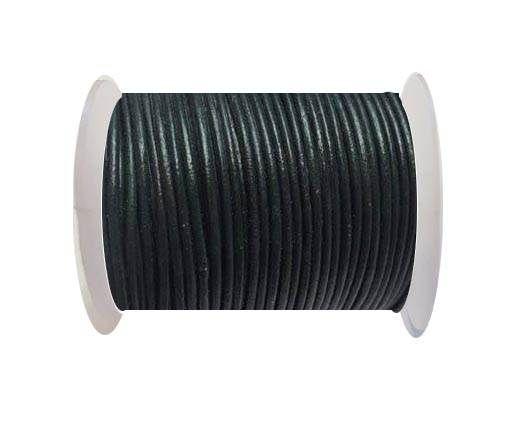Round Leather Cord -1mm - SE R 23 Sea Blue