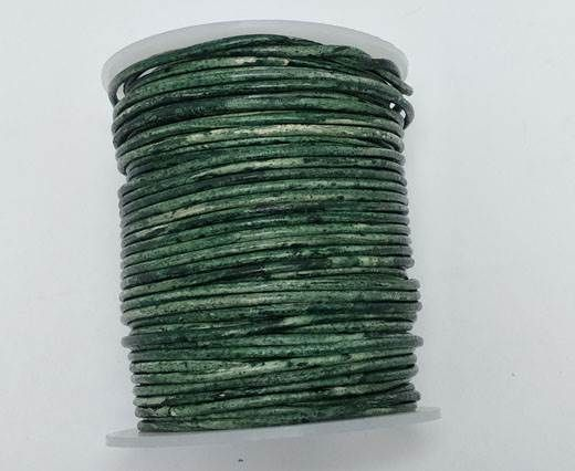 Buy Round leather cord-2mm- Vintage BOTTLE GREEN (V033) at wholesale price