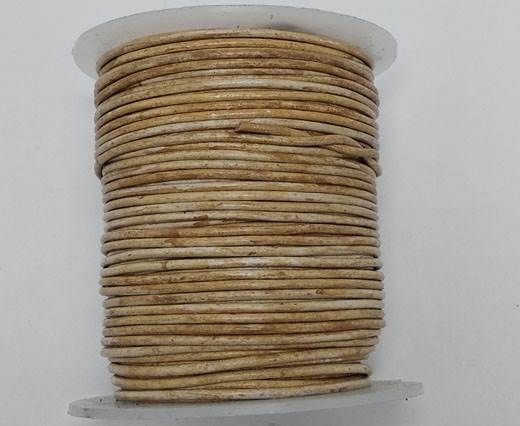 Buy Round leather cord-2mm- Vintage CAMEL(V025) at wholesale price