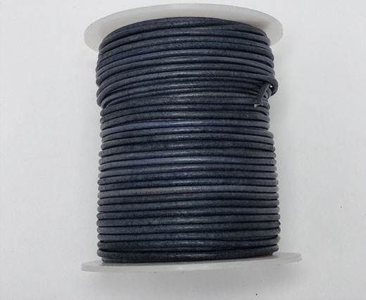 Buy Round leather cord-2mm- Vintage NAVY BLUE at wholesale price