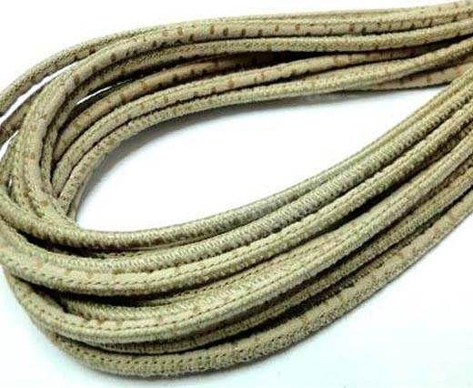 Round leather cord Stitch-3mm-Spyral Style Beige