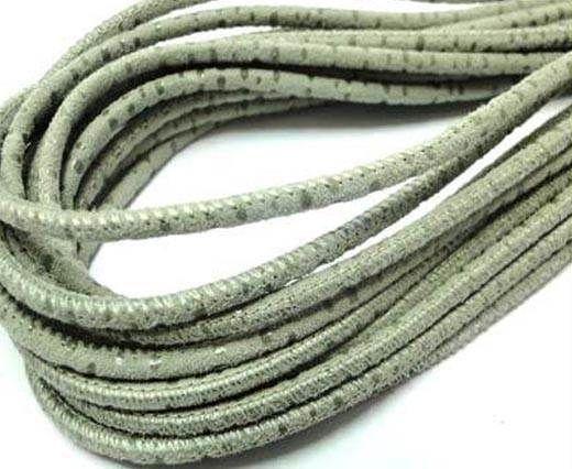 Round leather cord Stitch-3mm-Spyral Style Grey