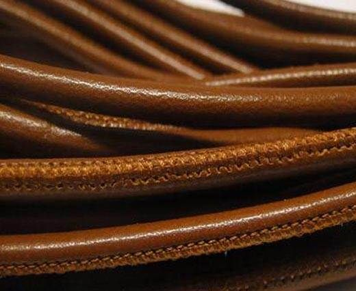 Round Nappa-Snake-style -Brown Veins -4mm