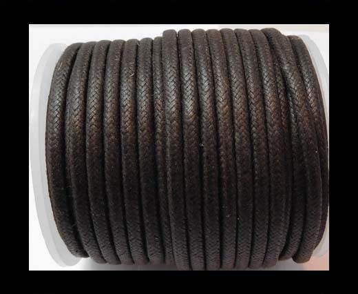 Round Wax Cotton Cords - 3mm - Dark Brown