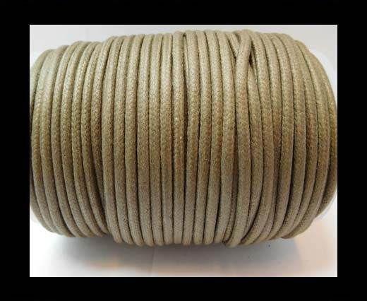 Round Wax Cotton Cords - 3mm - Dark Grey