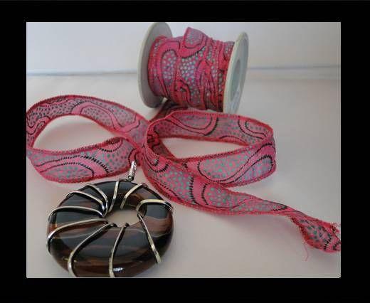 SC-Silk-Ribbon-Pink Peacock
