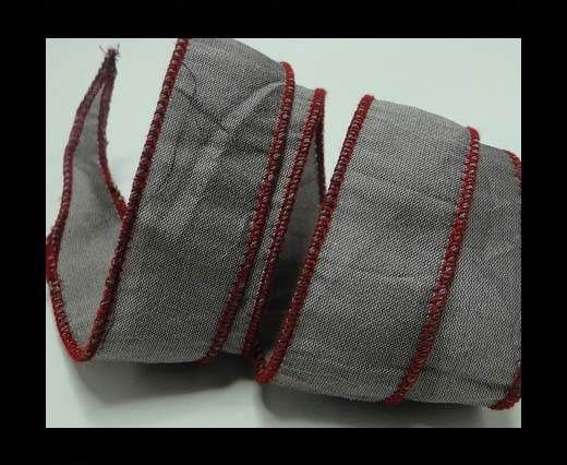 SC-Silk-Taper-1-Grey and Red-2,5cms