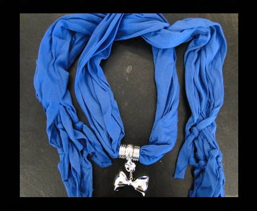 Scarf With Beads Style6-Blue