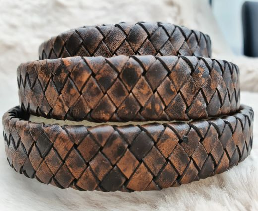 Oval Braided Leather Cord-15.5 by 4.5mm- se_pb_102