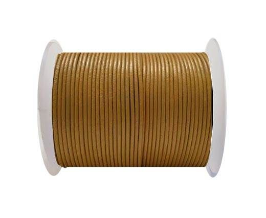 Round Leather Cord SE/R/15-Camel - 3mm