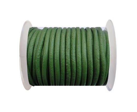 Round Leather Cord SE- Green-4mm