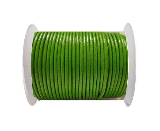 Round Leather Cord SE/R/Olive Green - 3mm