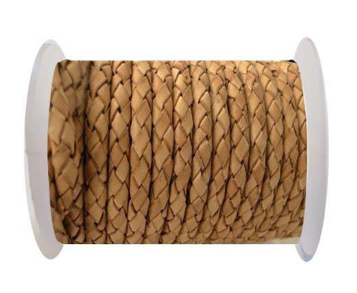 Round Braided Leather Cord SE/B/2000-Vintage Beige-8mm