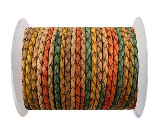 Round Braided Leather Cord SE/DM/02-Sunrise-8mm
