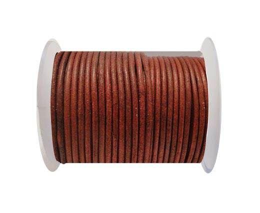 Round Leather Cord SE/R/Matt Finish-Red - 3mm