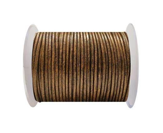 Round Leather Cord SE/R/Metallic Bronze - 3mm