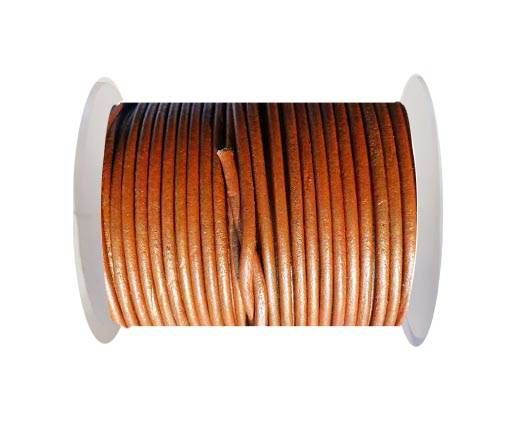 Round Leather Cord SE/R/09-Cinnamon-3mm