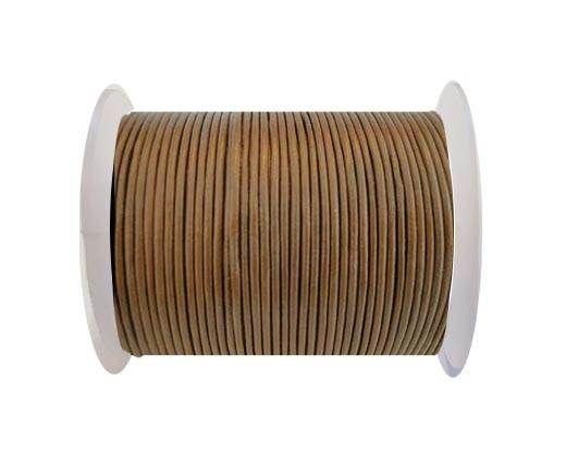 Round Leather Cord SE/R/14-Hazelnut-3mm