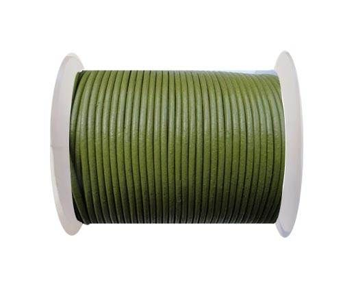 Round Leather Cord SE/R/22-Pistachio Green-3mm