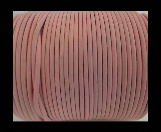 Round Leather Cord SE/R/Baby Pink - 3mm