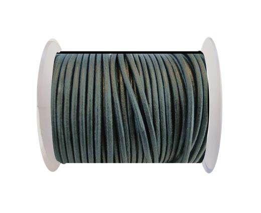 Round Leather Cord SE/R/Dark Grey - 3mm