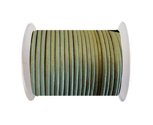 Round Leather Cord SE/R/Light Grey-3mm
