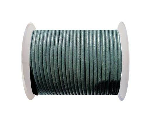 Round Leather Cord SE/R/Medium Grey - 3mm