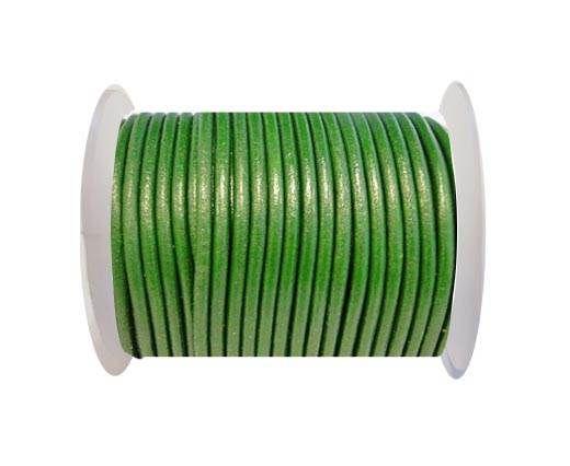 Round Leather Cord SE/R/Mehandi - 3mm