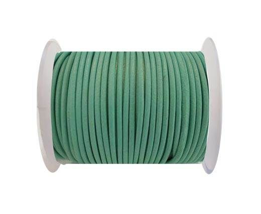 Round Leather Cord SE/R/Ocean-3mm