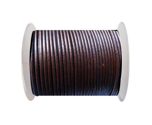Round Leather Cord SE/R/Tamba - 3mm