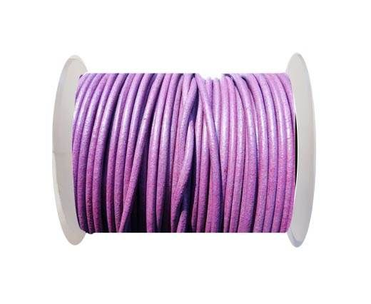 Round Leather Cord SE/R/Violet - 3mm