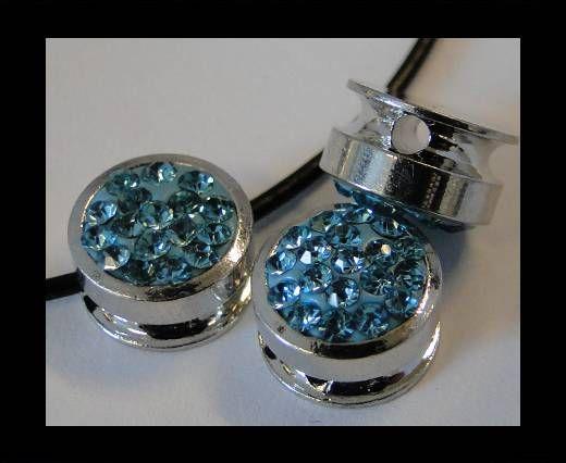 Shamballa-Flat-Round-10mm-Turquoise