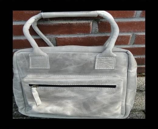 Small Traveller Bag with single pocket-20662-Light Grey