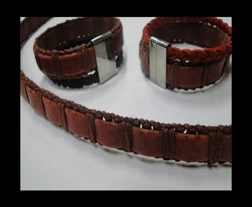 Special Real Touch Eco Leather-14mm-Maroon