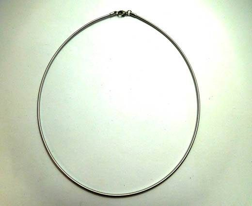 Buy Stainless steel necklace SSP 715 thickness1.5, 40mm Silver at wholesale price
