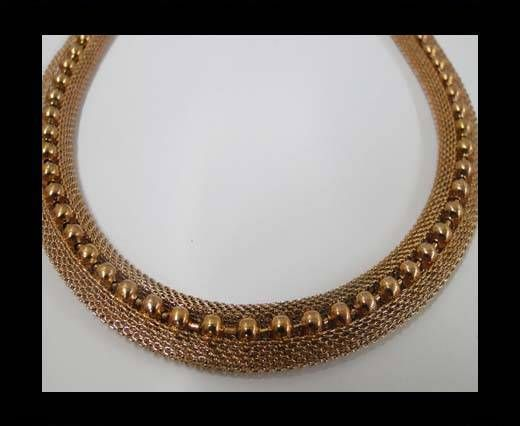 Stainless Steel Chain Item-23-10mm Rose Gold